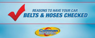 car serpentine belts and hoses why have them checked