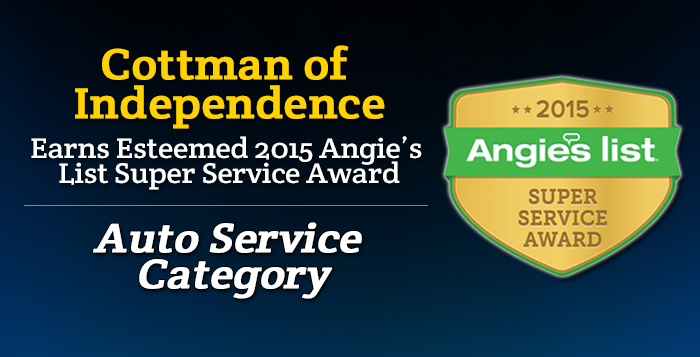 Cottman of Independence - Angie's List Super Service Award 2015 Winner