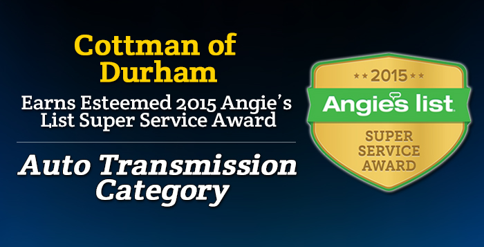 Cottman of Durham, NC - Angie's List Super Service Award 2015 Winner