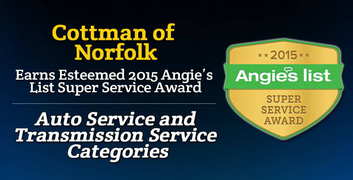 Cottman of Norfolk, VA - Angie's List Super Service Award 2015 Winners