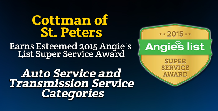 Cottman of St. Peters, MO - Angie's List Super Service Award 2015 Winners