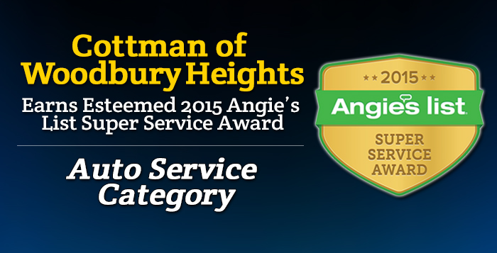 Cottman Woodbury Heights, NJ - Angie's List Super Service Award 2015 Winner