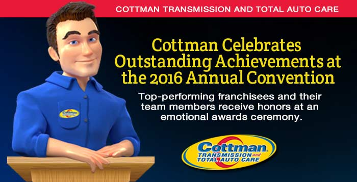Cottman Transmission and Total Auto Care Celebrates Outstanding Achievements at 2016 Annual Convention
