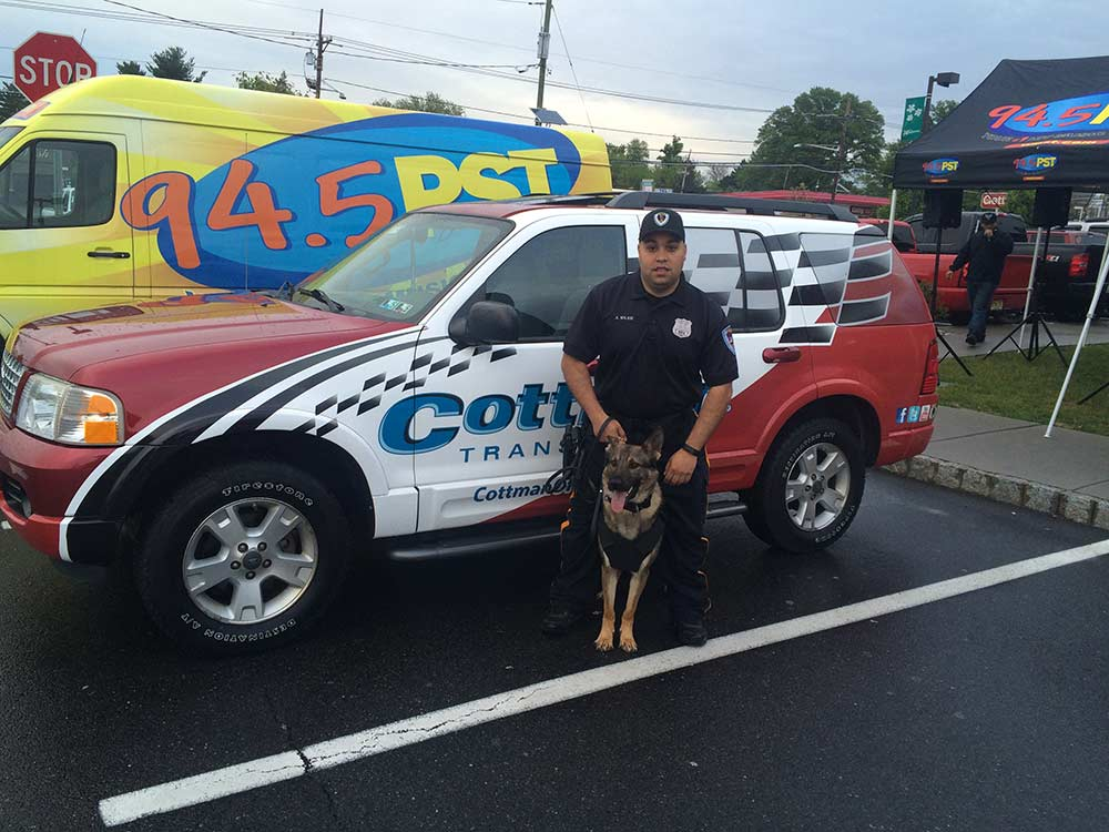 Cottman of Trenton joined with the US Army, WPST, Texas Roadhouse, and Hot Rides as a proud sponsor of Cruise Nights to benefit the Capital K9 Association