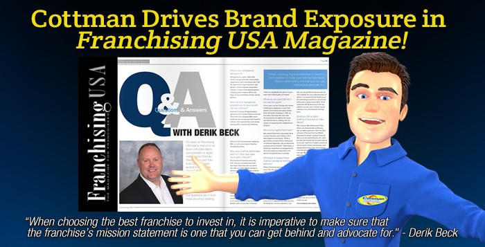 Cottman Drives Brand Exposure in Franchising USA Magazine