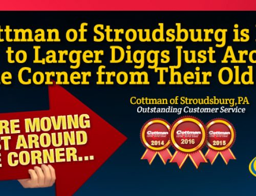 Cottman of Stroudsburg Moving to Larger Diggs Just Around the Corner from Their Old Center