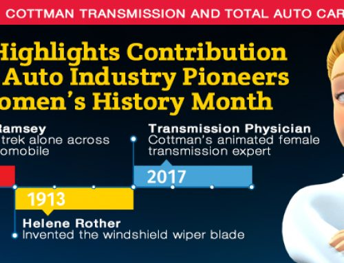 Cottman Transmission and Total Auto Care Highlights Contribution of Female Auto Industry Pioneers During Women's History Month