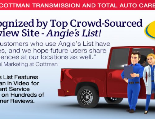 Cottman Transmission and Total Auto Care Recognized by  Top Crowd-Sourced Customer Review Site