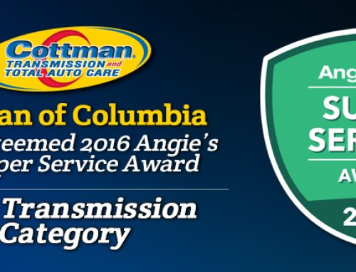 Cottman of Columbia Receives 2016  Angie's List Super Service Award
