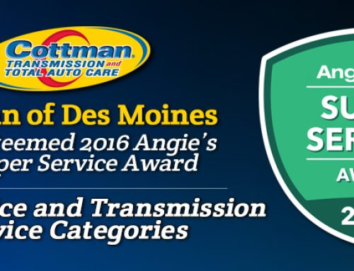 Cottman of Des Moines Receives 2016  Angie's List Super Service Award