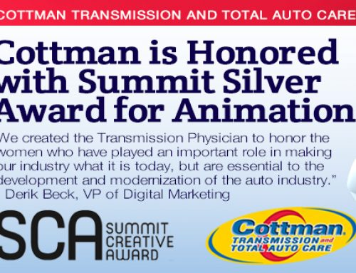 Cottman Transmission and Total Auto Care Honored with Summit Silver Award for Animation