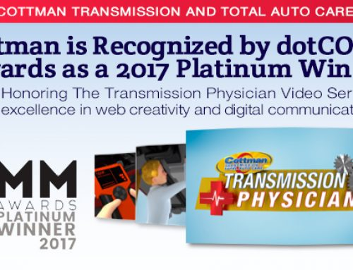 dotCOMM Awards Recognizes Cottman Transmission and Total Auto Care Honored with Platinum Award