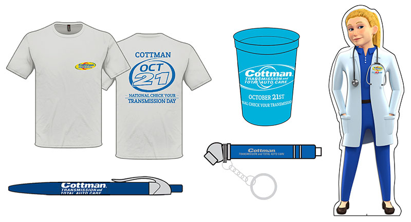 Cottman National Transmission Day Promotional Items