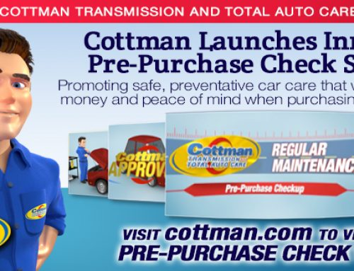 Cottman Transmission and Total Auto Care Launches Innovative Pre-Purchase Check Services