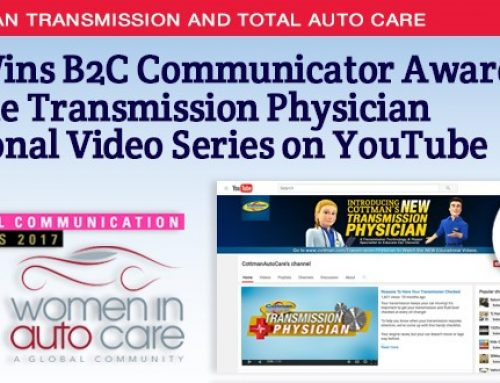 Cottman Transmission and Total Auto Care Wins Communications Award from Women in Auto Care