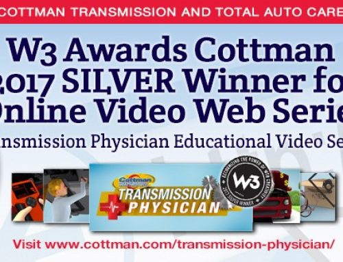 Cottman Transmission and Total Auto Care Honored with W3 Award For Transmission Physician